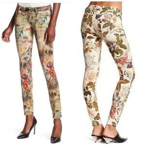 ETIENNE MARCEL Multicolored Floral Skinny Pants 27